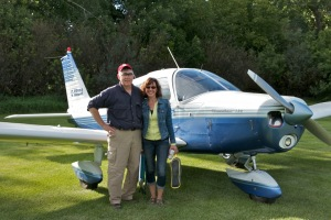 Shane and Tammy with Piper Cherokee 140