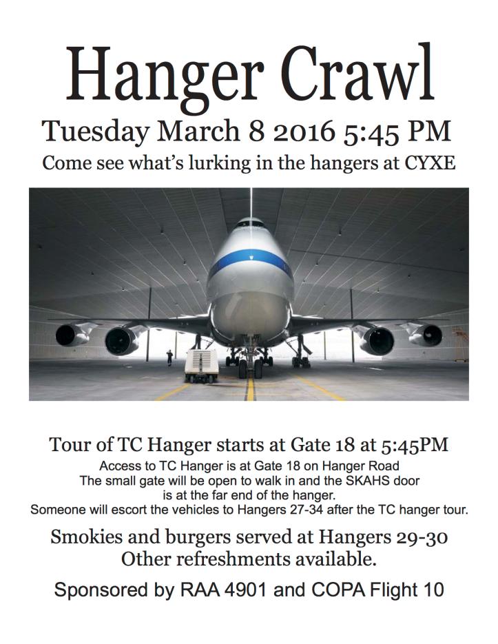 Hanger Crawl poster 03-08-16