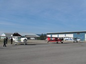 Customs Area  Cranbrook. Good to be back in Canada.